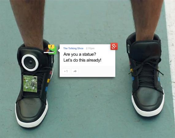 """google talking shoe"""