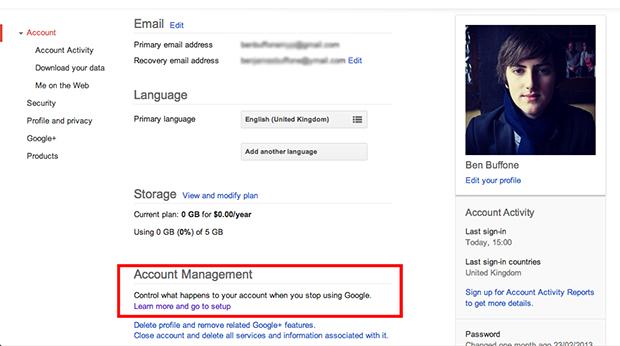 """testamento gmail"""