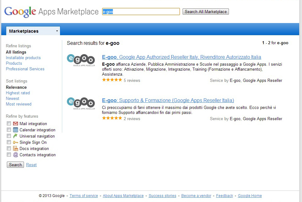 """google apps marketplace e-goo"""