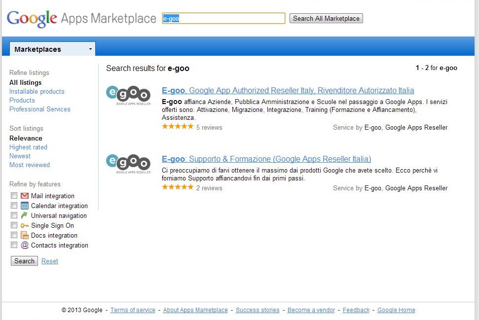 """google apps marketplace e-goo"""