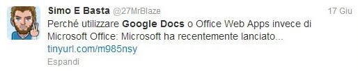 """opinioni google docs"""