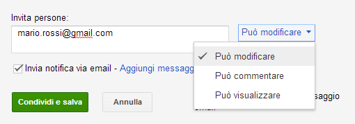 """""""condivisione file google drive"""""""