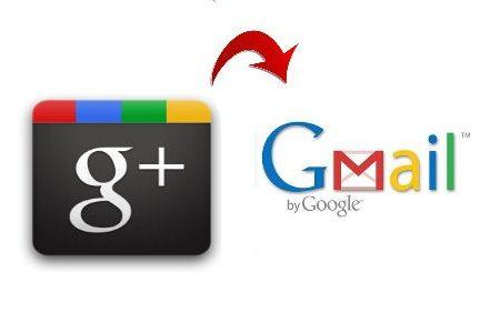 """gmail google+"""